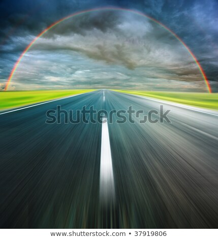 View at the rainbow above the road Stock photo © Kirill_M