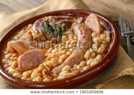 carne · anatra · cucchiaio · vegetali · pasto · salsiccia - foto d'archivio © m-studio