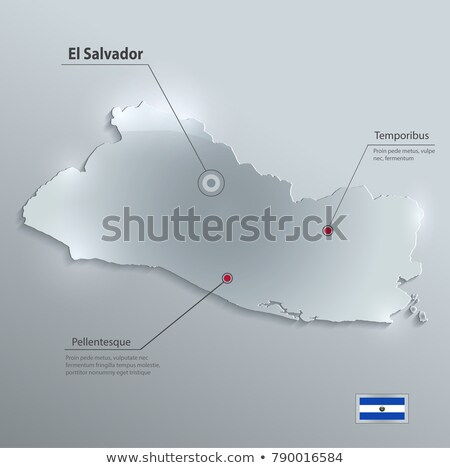 3d character textured with flag of El Salvador Stock photo © Kirill_M