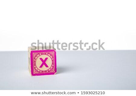 Letter X on Childrens Alphabet Block. Stock photo © tashatuvango