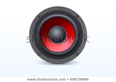 puissant · orateur · stylisé · musique · sonores · design - photo stock © odes