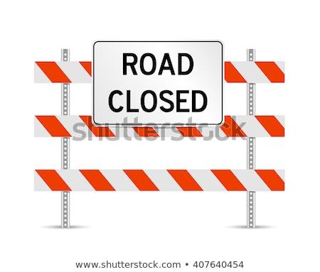 дороги закрыто знак сельский моста из Сток-фото © actionsports