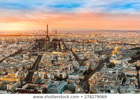 Paris · Torre · Eiffel · França · pôr · do · sol · montanha - foto stock © anshar