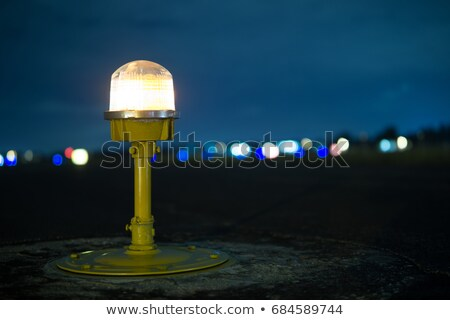 airport landing lights stock photo © franky242