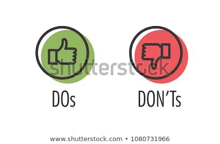 Approved vs. Rejected Stock photo © burakowski