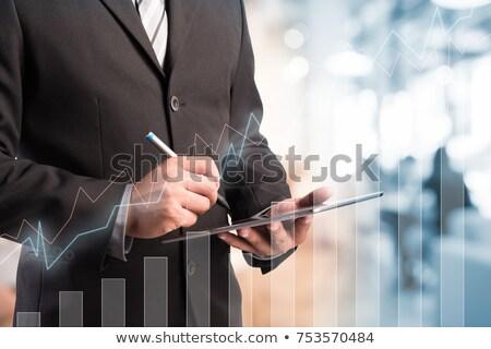 Businessman holding United states dollars Stock photo © stevanovicigor