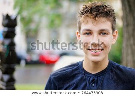 мужчины · ребенка · Nice · белый · моде · мальчика - Сток-фото © shamtor