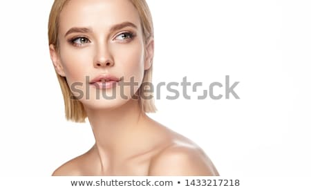 happy blonde beautiful woman in mask stock photo © neonshot