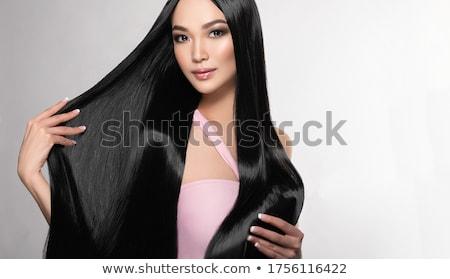 Belo thai mulher longo elegante cabelos lisos Foto stock © tommyandone