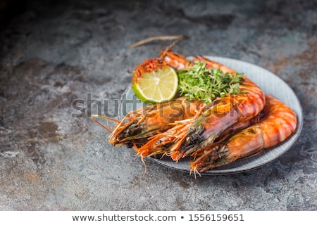 Giant sized tiger king prawns/shrimp Stock photo © danielgilbey