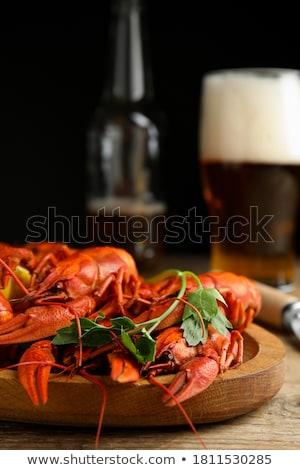 vacsora · kép · homár · előkészített · hal · óceán - stock fotó © karandaev
