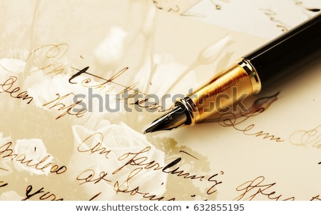 Ouderwets brief pen hand business kantoor Stockfoto © jarin13