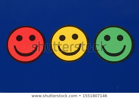 Set of color smiley icons isolated Stock photo © elenapro