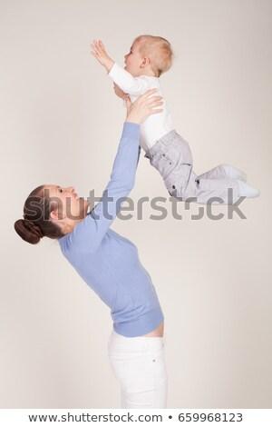 anne · gülen · bebek · kız - stok fotoğraf © DNF-Style
