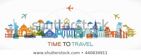 Beroemd reizen teken stedelijke standbeeld toren Stockfoto © anbuch