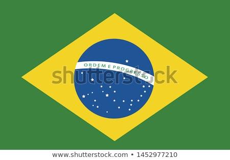 Brasil · ilustração · bandeira · silhueta · cidade · cristo - foto stock © sidmay