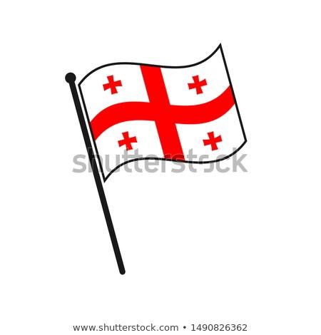 Грузия небольшой флаг карта избирательный подход фон Сток-фото © tashatuvango