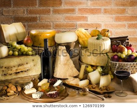 Peynir gıda kombinasyon yemek İtalyan gıda Stok fotoğraf © marcoguidiph