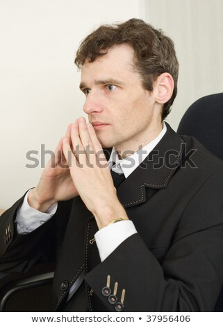 businessman having combined hands close up Stock photo © goryhater