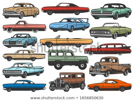 an old american limousine stock photo © hochwander