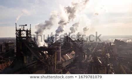Foto d'archivio: Industriali · fumo · camino · bianco · tecnologia · industria