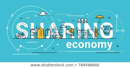 Condivisione economia mano iscritto mercato scrivere Foto d'archivio © Zerbor