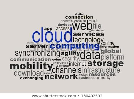 teknoloji · kelime · bulutu · vektör · Internet · arka · plan · web - stok fotoğraf © master_art