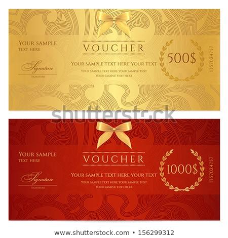 Lüks altın kırmızı hediye Çeki girdap model Stok fotoğraf © liliwhite