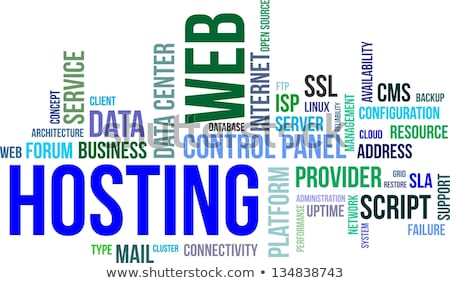 word cloud - web hosting Stock photo © master_art