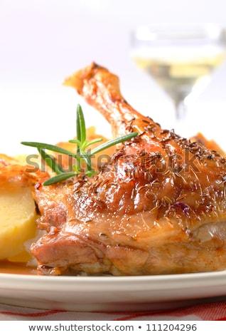 Gans jus voedsel tabel diner Stockfoto © haraldmuc