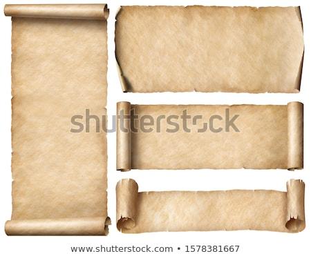 Perkament ingesteld vier stijl ontwerp Stockfoto © simo988