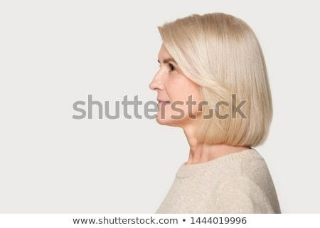 Portrait profile blond dame jeunes fille Photo stock © majdansky