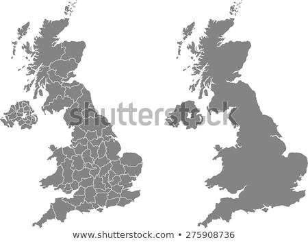 Térkép Anglia különböző színek fehér világ Stock fotó © mayboro1964