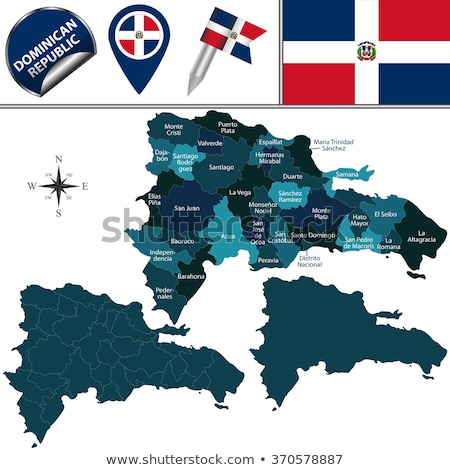 Map on flag button of Dominican Republic Stock photo © Istanbul2009