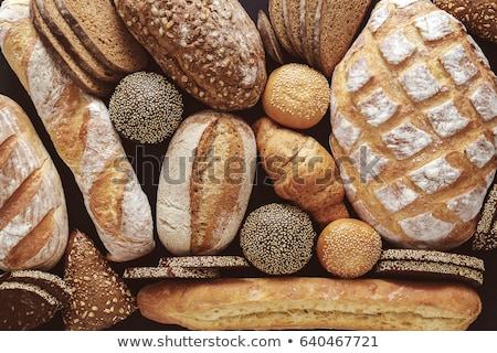 ローフ 黒 パン 古い 布 食品 ストックフォト © OleksandrO