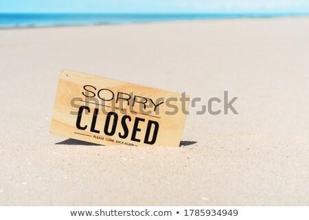 assinar · areia · foto · pormenor · areia · da · praia · praia - foto stock © Dermot68
