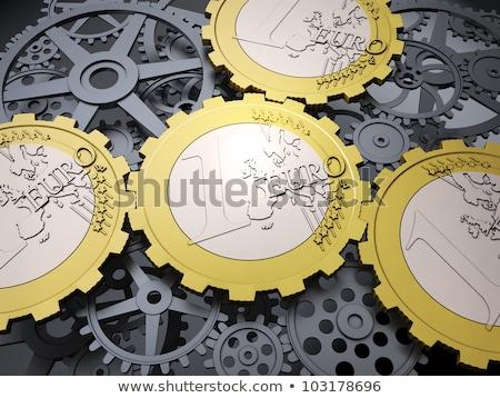 Mondial économie métal engins mécanisme terre Photo stock © tashatuvango