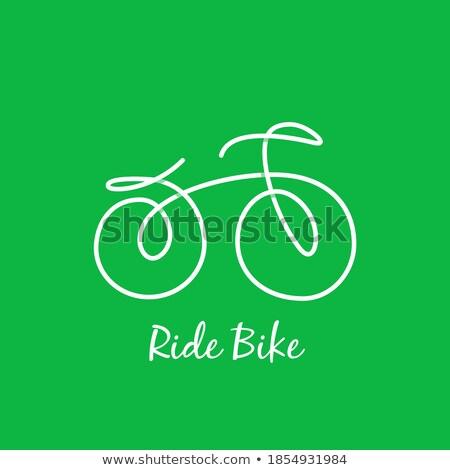 Bicicletta Stilizzato Segno Illustrazione Viaggio Traffico