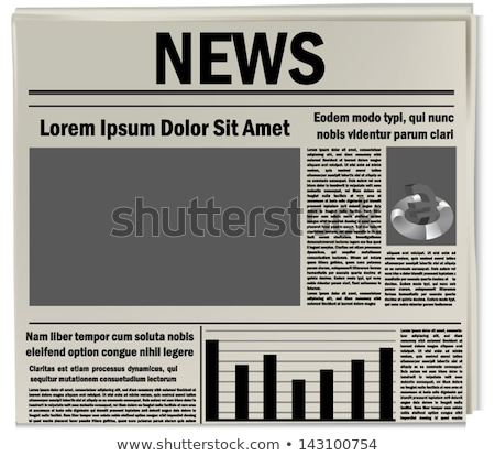 Jornal manchete boletim informativo escritório notícia óculos Foto stock © Zerbor