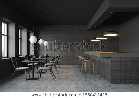 3D · modern · étterem · terv · szoba · klub - stock fotó © wxin