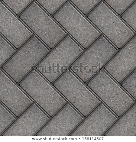 gray paving slabs as parquet stock photo © tashatuvango