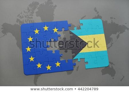 европейский Союза Багамские острова флагами головоломки вектора Сток-фото © Istanbul2009