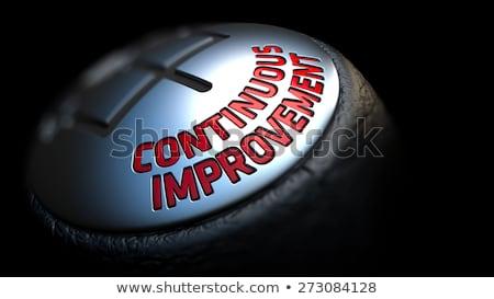 Process Improvement on Gear Stick with Red Text.  Stock photo © tashatuvango