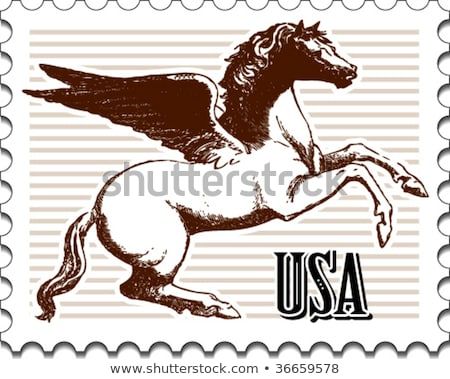 pegasus postage stamp Stock photo © sirylok