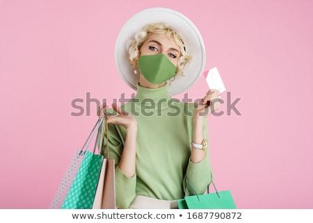 Compras dama vector silueta mujer muchos Foto stock © Vg