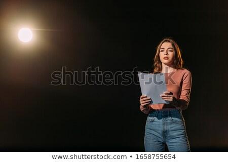 jóvenes · actriz · nino · vestido · llorando · moda - foto stock © vtupinamba