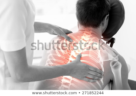 Highlighted bones of woman at physiotherapist  stock photo © wavebreak_media
