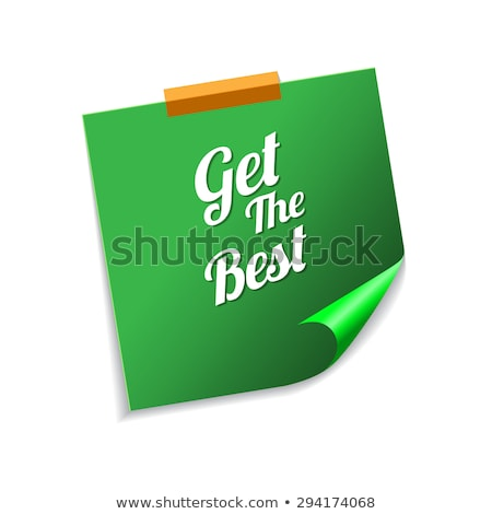 Get The Best Green Sticky Notes Vector Icon Design Stock photo © rizwanali3d