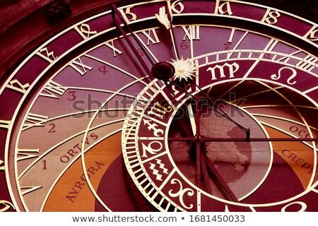 Retro velho Praga astronômico relógio cidade velha Foto stock © stevanovicigor