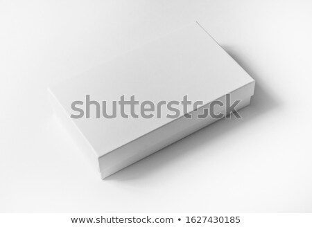 White Box with Lid Isolated on Background Stock photo © feverpitch